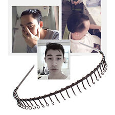 Men's Metal Wire Teeth Hair Band Fashion Black Soccer Football Sports Headband