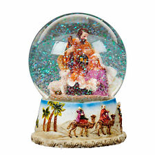 Christmas Nativity 100mm Snow Globe Wind Up Musical