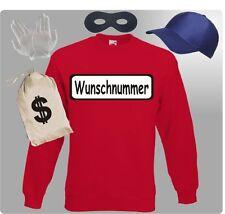 Für Panzerknacker Kostüm Fans Sweatshirt Pulli Karnevalkostüm Paarkostüm Gruppen