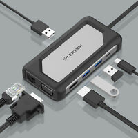 LENTION 7-in-1 USB C Hub to USB 3.0 HDMI Ethernet PD Adapter for MacBook Air Pro