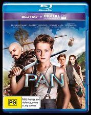 Pan (Blu-ray, 2015) Hugh Jackman  New, ExRetail Stock, Genuine & unSealed  - D15