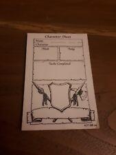 Hero Quest Heroquest gioco SOSTITUZIONE RICAMBIO carattere fogli Pad w33