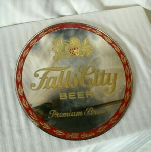 "Vintage 12 "" Falls City Pub Mirror - Tough to Find!"