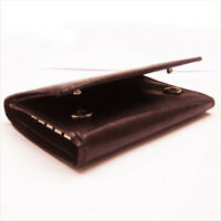 Brown Men's Leather Keychain Wallet Key Ring ID Card Money Holder