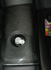 PH~ Rear Seat Arm Rest Cover Cup Holder Surround (LHD) For Nissan R35 GTR Carbon