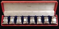 Set of 8 Cartier Sterling Silver Individual Salt and Pepper  No Reserve Auction!