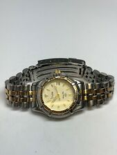 """Bulova Ladies Stainless Steel Two Tone Quartz Watch With Date Up to 6"""" Wrist"""