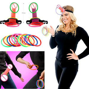 Funny Bachelorette Party Bride Ring Penis Toss Game Hen Night Decoration Gifts