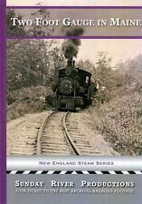 Two Foot Gauge in Maine DVD NEW Sunday River Rare! Steam freight & passenger