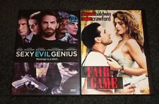SEXY EVIL GENIUS & FAIR GAME-2 DVDs-WILLIAM BALDWIN, SETH GREEN,CINDY CRAWFORD