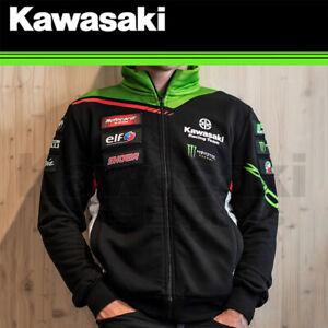 NEW GENUINE 3X-LRG KAWASAKI WORLD SUPER BIKE MONSTER ENERGY REPLICA SWEATSHIRT