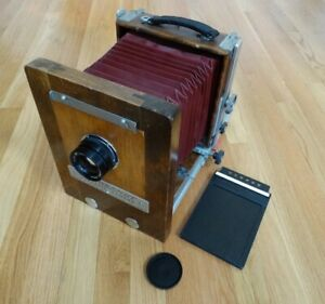 Burke & James Rembrandt 4X5 Inch Wet Plate Camera With Original Rembrant Lens