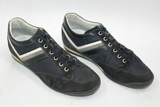 HARMONT & BLAINE men shoes sz 7.5 Europe 40 blue canvas suede leather S7889