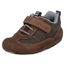 Chaussures décontractées marron à lacets en cuir pour garçon de 2 à 16 ans