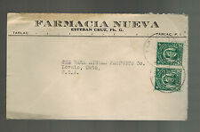 1922 Tarlac Philippines Cover to USA Farmacia Nueva