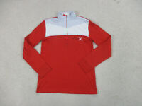 Spyder Shirt Youth Large Red White Quarter Zip Long Sleeve Pullover Boys Kids *