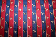 Duck fabric, Ducks on navy and red stripe fabric, Concord Fabrics, 1 1/2 Yards