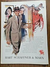 1951 Ad Hart Schaffner & Marx Men's Clothes Suites Fashion