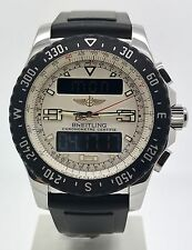 Breitling Airwolf Raven A7836434 Perfecto Estado b&p 2013 Para hombres Reloj SS 44 mm