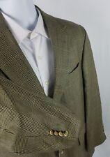 Nautica Mens Tan multicolor Sport Coat Suit Jacket Blazer 40R Wool Silk 2Button