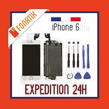 ECRAN LCD RETINA POUR IPHONE 6 NOIR / BLANC COMPLET + VITRE TACTILE SUR CHASSIS
