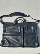 "Vintage Tumi Alpha Organizer Leather Briefcase 15-17"" Laptop Bag Messenger Black"