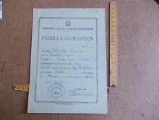 PAGELLA SCOLASTICA SCUOLA ELEMENTARE ANNO SCOLASTICO  1961/1962