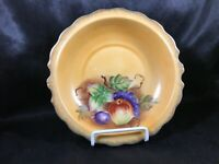 Vintage Peach Colored Fruit Hand Painted Ornate Bowl