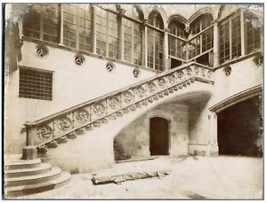 Espagne, Barcelone, Barcelona, Palacio de la diputacion, escalera gotica Vintage