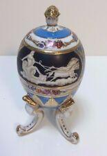 Vaso Ovoidale Uovo Royal Egg a Tre Piedi con Coperchio in porcellana - Vintage