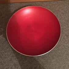 Vintage Mid Century CATHRINEHOLM Norway Gneis Red Aluminum Serien Bowl