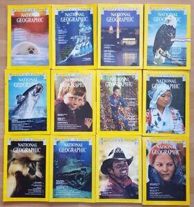 National Geographic 1976 english komplett Sammlung 1-12 Zeitschrift Hefte maps