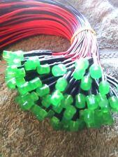10pcs Green Diffused Flat Top 3mm 5V Led Cb Radio Bulb Leds PreWired Lights Usa