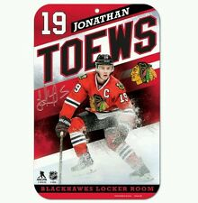 JONATHAN TOEWS CHICAGO BLACKHAWKS LOCKER ROOM SIGN 11X17 DURABLE POSTER