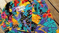 ATOMIC Vtg BOLD Psychedelic Birds Cheetah Men L Hawaiian Shirt S/S Floral jams
