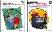 Klavierspielen mein schönstes Hobby - Band 1 + CD oder Band 2 +Online-Audiodatei