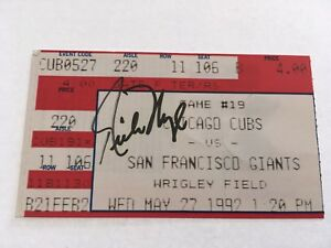 Rich Nye Signed May 27 1992 5/27/92 Chicago Cubs Giants Ticket Stub Autograph