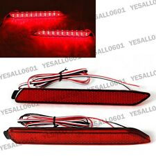 2pcs LED Rear Bumper Reflector Brake Lights Red Lens for Lexus IS-F GX470 RX300