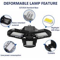 40/80/100W Deformable LED Garage Light Fixture Ceiling Workshop Lamp