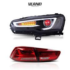 VLAND LED Headlights+Tail lights For Mitsubishi Lancer EVO X 2008-2017 Assembly