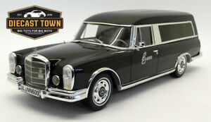 1/18 1969 Mercedes Benz 600 Pollmann Hearse Black by BoS Models LE of 1000