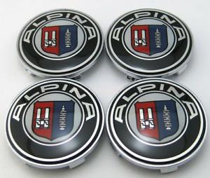For Alpina 4x68mm Emblem Wheel Center Caps Hub Center Caps Emblems Badges
