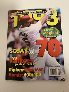 Gold Collectors Series Baseball Magazine Mark McGwire St. Louis Cardinals 1998