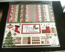 Echo Park-Merry Christmas Kit-12 12x12 Papers, Alphabet & Stickers- Brand New