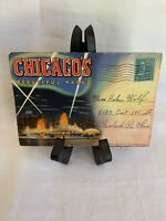 Rare Vintage Folding Postcard - Chicago's Beautiful Parks - 5 Cent Stamping