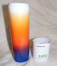 NEW Starbucks Tumbler CASE Cover with Multi Color Fade Design