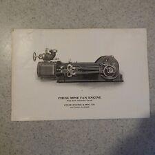 New listing Chuse Mine Fan Engine - Chuse Engine & Mfg. Co. Trade Magazine Advertisement