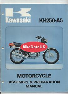 Kawasaki KH250 A5 (1976) Factory Assembly & Preparation Manual KH 250 A DV26