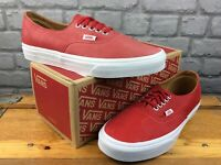 VANS UK 7 EU 40.5 AUTHENTIC DECON RED LEATHER TRAINERS MENS LADIES RRP £57 A