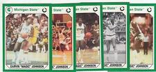 5 card LOT MAGIC JOHNSON 1990 cards Michigan State Spartans Lakers Basketball